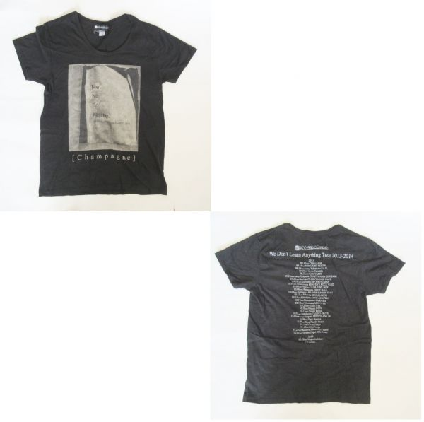 [Alexandros] We Don't Learn Anything Tour 2013-2014 Tシャツ [Champagne](シャンペイン) アレクサンドロス グッズ