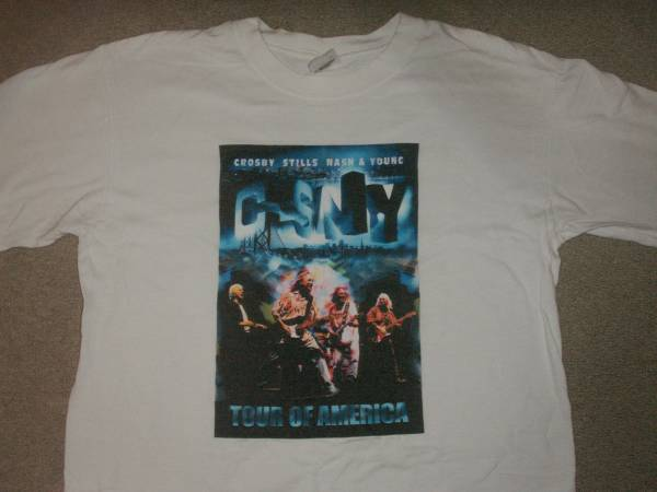 CROSBY STILLS NASH & YOUNG ツアーTシャツ NEILYOUNG