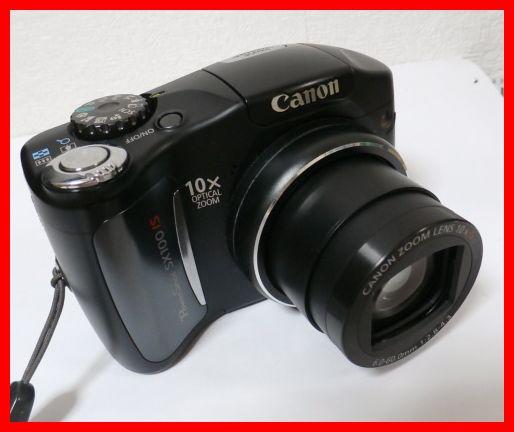 貴重★単三電池使用機★美品★キャノン Canon PowerShot SX100IS ★C065