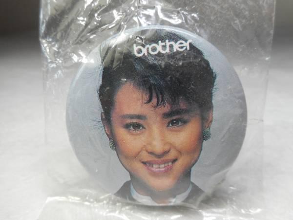 非売品 松田聖子 brother 缶バッジ 昭和レトロ ノベルティ