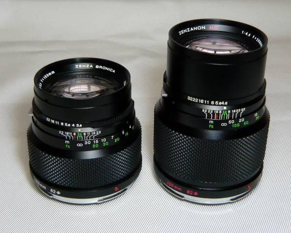BRONICA ETR★ZENZANON MC 150mm F3.5★200mm F4.5★望遠レンズ2本セット_画像2