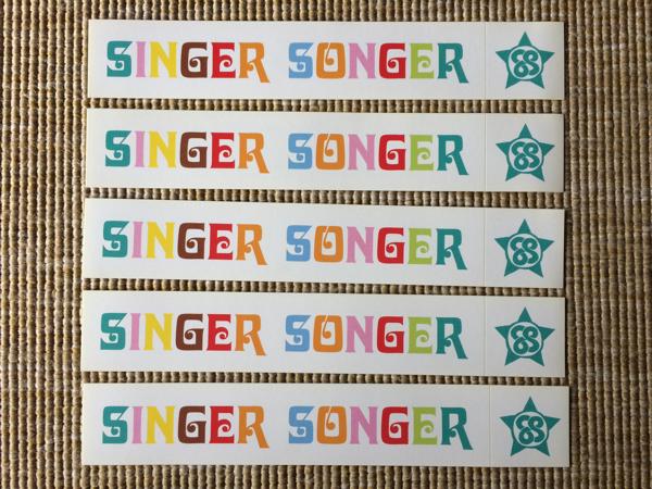 【送料込】非売品 Cocco×くるり SINGER SONGER ステッカー5枚セット 初夏凛々