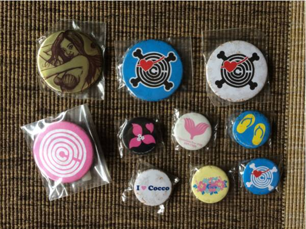 【送料込】Cocco 缶バッジ10個セット ザンサイアン ライブツアー2006グッズ