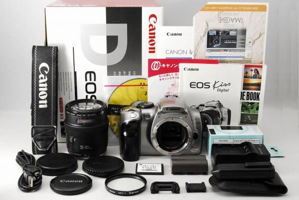 ●極上美品●元箱一式● Canon キャノン EOS Kiss Digital レンズキット 元箱、貴重な使用説明書が付属 女性ならではの対応で安心です
