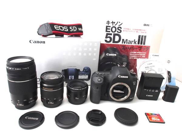 ガイドブック・CFカード付き! Canon キヤノン EOS 5D Mark III 超望遠 トリプルレンズ