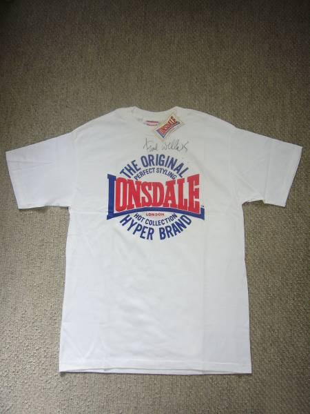 【送料無料】★ポール・ウェラー(Paul Weller)直筆サイン入り!LONSDALE(ロンズデール)Tシャツ/ホワイト/メンズLサイズ