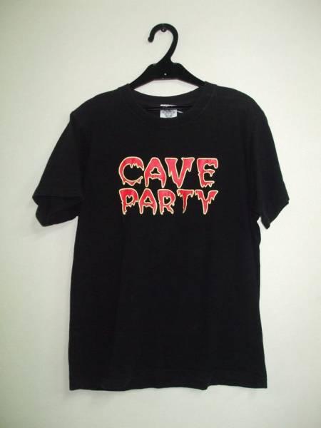 ザ・クロマニヨンズ CAVE PARTY 半袖バンドTシャツ ブラック 甲本ヒロトハイロウズ ブルーハーツ