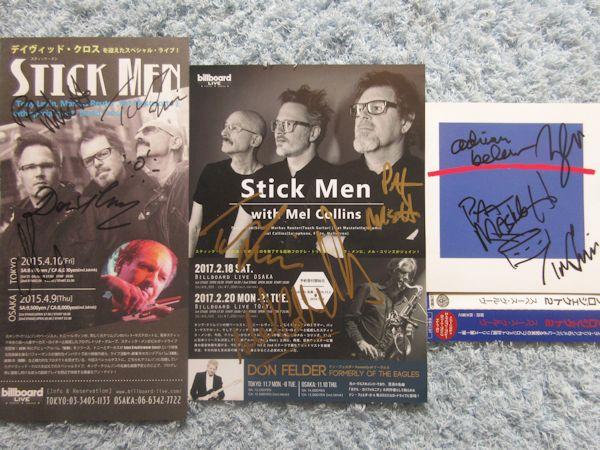 ◎スティックメン直筆サインチラシ2枚+プロジェクト2直筆サイン入りCD!