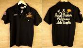 「ROAD RUNNER/ロードランナー」鹿の子編みポロシャツ(黒)