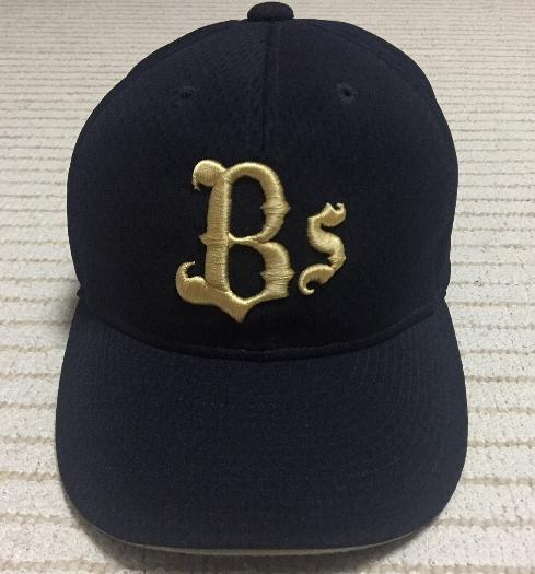 【使用者は不明】NPBマーク入り オリックス バファローズ オーセンティック キャップ 帽子 CAP グッズの画像