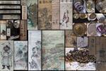 旧家初出 絹本紙本 古画 中国掛軸額 まくり 古筆 古書 超