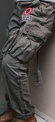 Gasumaruミリタリー スタイリッシュ 軍パン  32インチ 81㎝ サバゲー アーミー ドロヘドロ_画像2