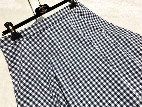 【美品】ef-de(エフデ)ギンガムチェックスカート 大きいサイズ19号_画像2