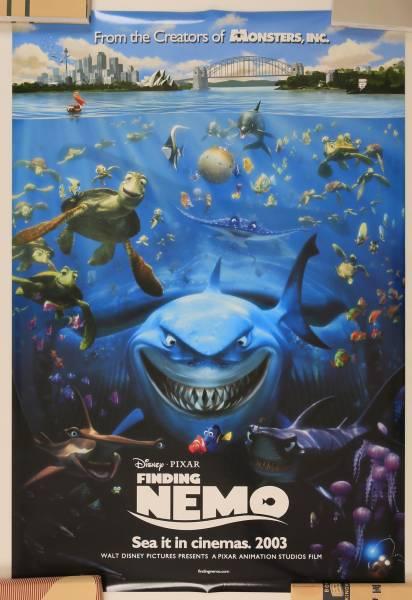 値下げ 映画ポスター ファインディング・ニモ ディズニー ピクサー 両面印刷 約68×102 FINDING NEMO ファインディング・ドリー ディズニーグッズの画像
