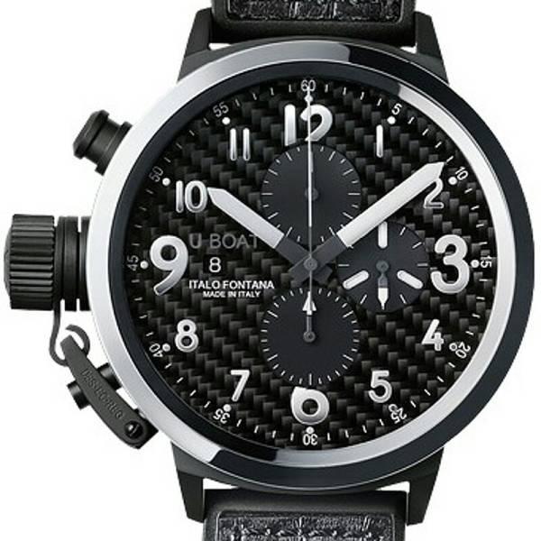 68万円 新品本物 ◆ ユーボート U-BOAT フライトデッキ 7118 クロノグラフ 50mm 自動巻き メンズ腕時計 セラミック・レザー