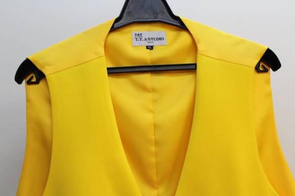 [コレクション  1着限り キングサイズ特集 ステージ・カラーベスト  4Lサイズ  黄色]_画像2