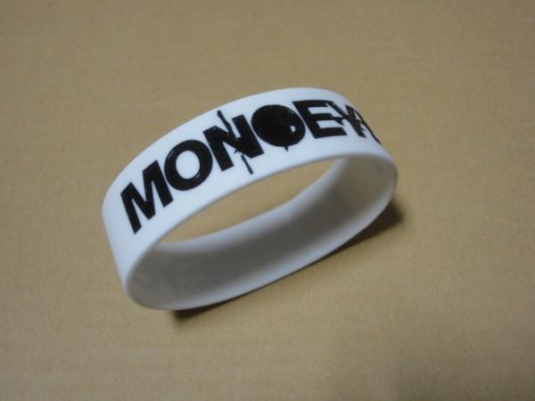 [グッズ] MONOEYES (モノアイズ) ラバーバンド (ホワイト×ブラック) / ラババン リストバンド 細美武士