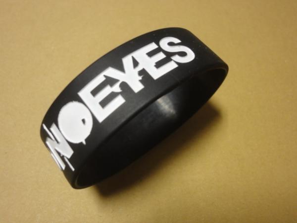 [グッズ] MONOEYES (モノアイズ) ラバーバンド (ブラック×ホワイト) / ラババン リストバンド 細美武士