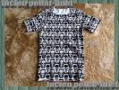 サイズM 新品 ルシアンペラフィネ lucien pellat-finet 並行輸入品 ホワイト&ブラック 総柄スカル Tシャツ オシャレ 大人気 一点物