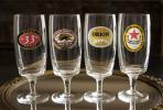 ビンテージ ビール グラス アサヒ キリン オリオン BIERE 4個セット アメリカ 限定品 プロモーション