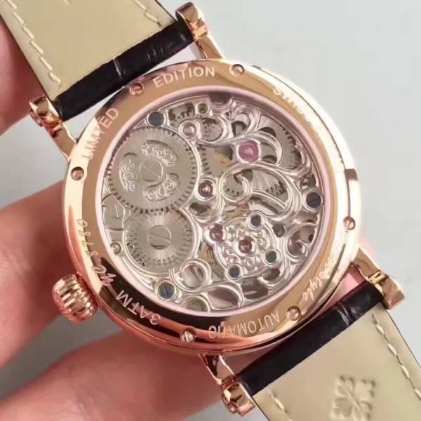 新品 パテックフィリップ Patek Philippe 男性用腕時計 メンズ 自動巻き ステンレス 白文字盤 裏スケ_画像3