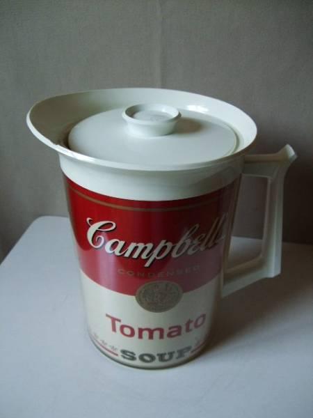 1970s Vintage Campbell's TOMATO soup Pitcher キャンベル トマトスープ ピッチャー/ジャグ ビンテージ 中古品 アンディ・ウォーホル_Campbell's TOMATO soup Pitcher