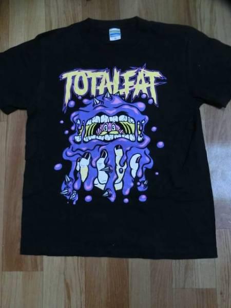 TOTALFATトータルファット限定ロゴ廃盤バンドTシャツ(バンT/ライブT)色ブラックsizeM美中古品