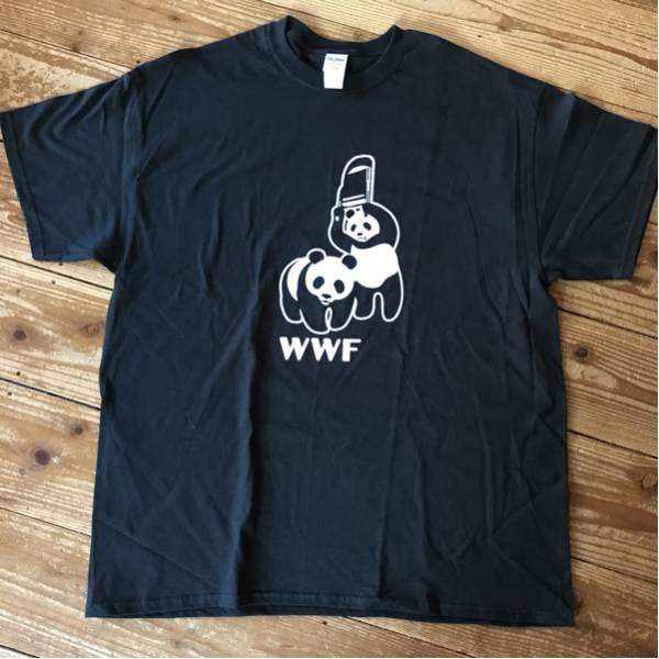 WWF (WWE)プロレス パンダ Tシャツ XL グッズの画像