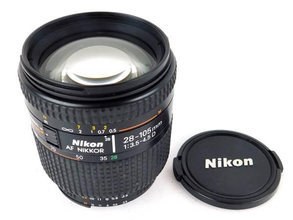 カメラレンズ【Nikon ニコン】AF NIKKOR 28-105mm 1:3.5-4.5 D レンズのみ MADE IN JAPAN