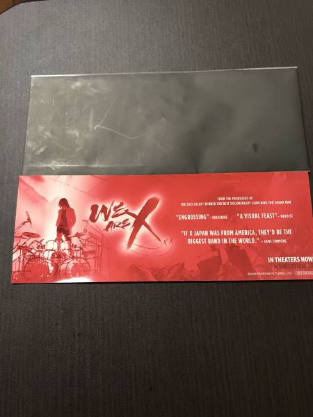 X JAPAN we are x 劇場 限定 入場者 ステッカー 赤