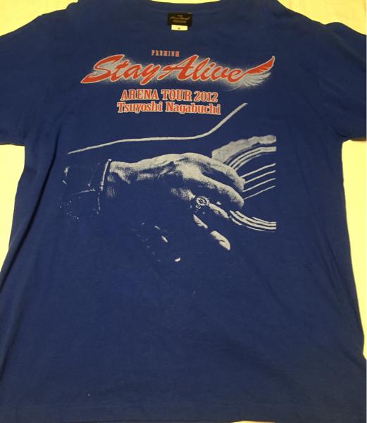 美品★『長渕剛』Tシャツ/stay alive/2012アリーナツアー/ブルー/XL/ライブTシャツ