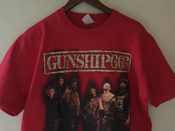 レア【GUNSHIP666 】ライブ Tシャツ ★XL★ ヘヴィメタル Kamikaze ガンシップ666 Gunship666