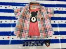 ★ダブルB★【美品】チェックシャツとBくんタンクトップの2点セット【G】80cm ミキハウス DOUBLE.B