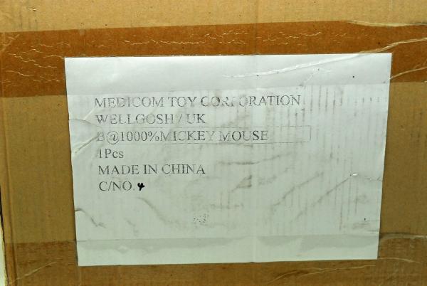 BE@RBRICK ベアブリック 1000% ミッキーマウス 新品 シリアルナンバー 4 激レア 初期 初代 最希少!