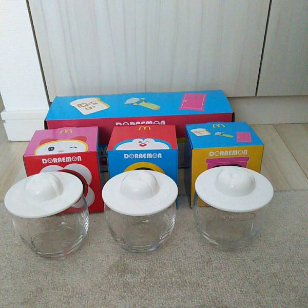 ドラえもん 南極カチコチ大冒険 マクドナルド グラス3個セット 新品 箱入り グッズの画像