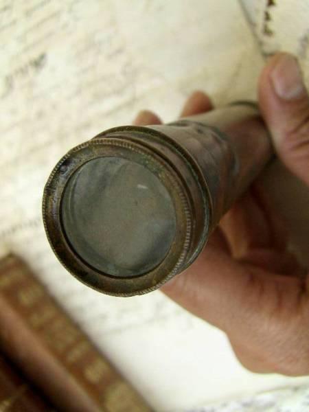 アンティークフランス  単眼鏡 真鍮 1900年 レア_画像2