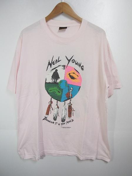 NEIL YOUNGニールヤング 1993年 WORLD TOUR ワールド ツアー Tシャツ バンドT ロックT ピンク サイズXL 502H