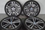 【美品】BMW 4シリーズ Mスポーツ 純正 19in ダブルスポーク 442M ポテンザ S001 RFT 225/40R19 255/35R19 ランフラット F33F34F36F30F31