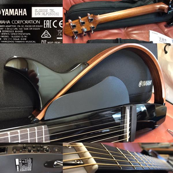 ヤマハ YAMAHA サイレントギター SLG200S ブラック 美品良品 アンプ良好 アンプ繋げば激鳴り 練習用に最適 ギターを始める方に最適!