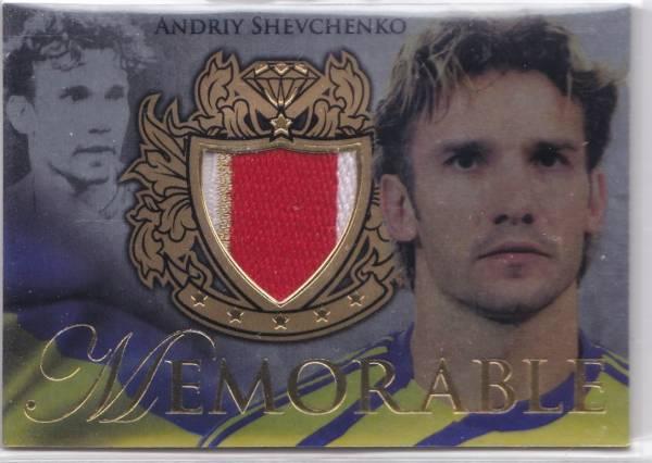 2011 FUTERA UNIQUE Andriy Shevchenko シェフチェンコ ACミラン Memorable 3色パッチ #060/299 2枚限定 SP/2 グッズの画像