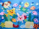 ★夏 大きめ壁面飾り 幼稚園 保育園★海中遊泳⑨★