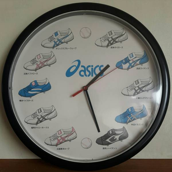 非売品 アシックス 壁掛け時計 プロ野球 ダイエーホークス 横浜ベイスターズ 近鉄 オリックスブルーウェーブ グッズの画像