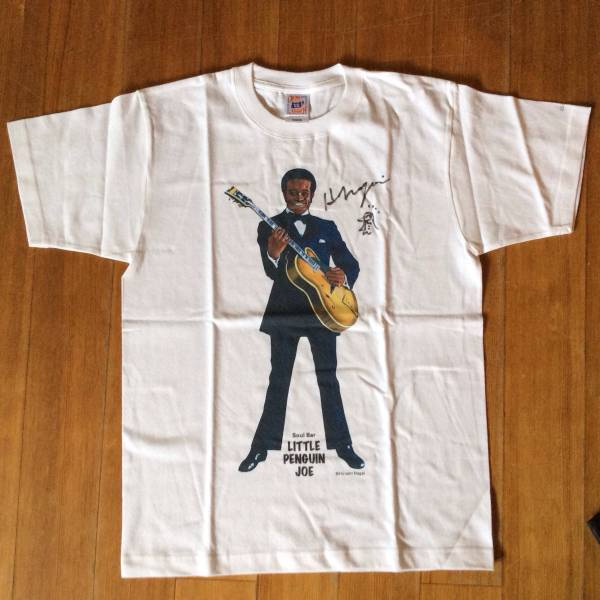 【新品】永井博 Soul Bar LITTELE PENGUIN JOE Tシャツ 2008★サイン入り