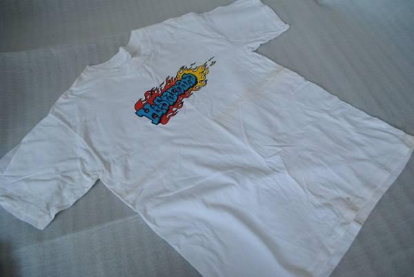 中古 Hi-STANDARD ハイスタ ロゴTシャツ 白 メンズ 半袖Tシャツ 難あり