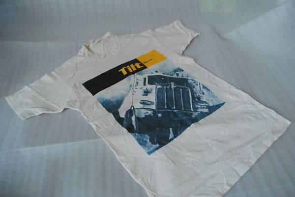 古着 TILT play cell ティルト ロゴTシャツ 半袖 ベージュ Tシャツ メンズ ヴィンテージ