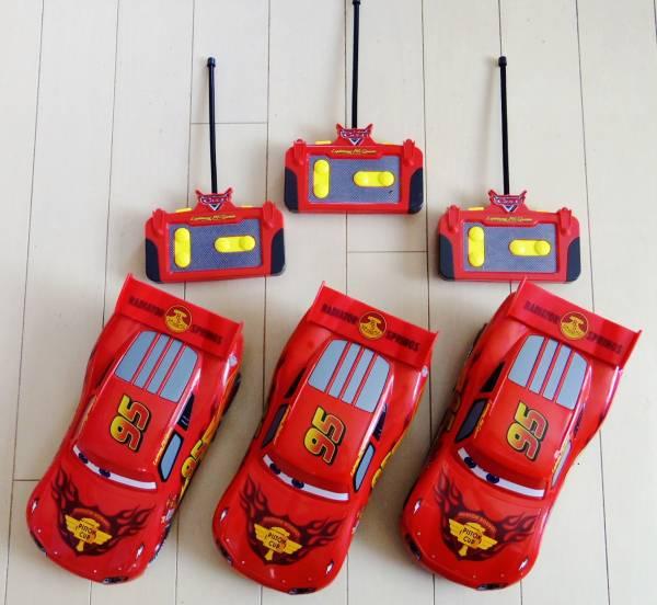 ディズニーピクサー カーズ ライトニング・マックイーンのラジコン 3台 動作不良品 ジャンクです。_ジャンク品3台セットで。