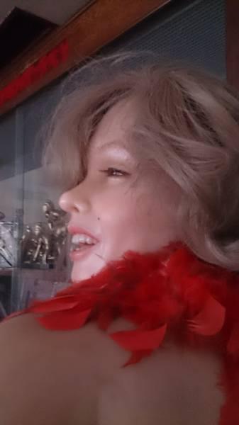 秘宝 蝋人形 マリリンモンロー 希少 グッズの画像