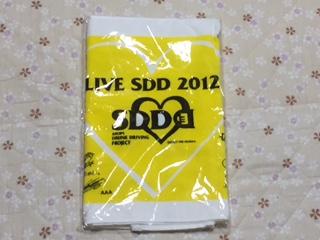 非売品!!未開封☆LIVE SDD 2012年 飲酒運転撲滅ライブタオル  ♪ ○32