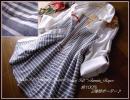 ◆新品3L◆綿100%2種類ボーダー柄ブラウスチュニック*重ね着や羽織りにも♪紺