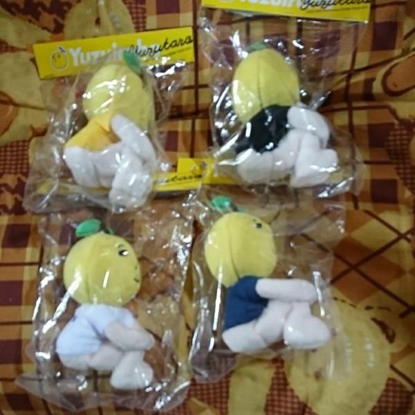 ゆず太郎 イロハ マスコット ぬいぐるみ 全4種類 オマケイロハドームツアーの銀テープ3種類付き ライブグッズの画像